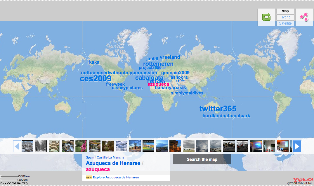 flickr map display