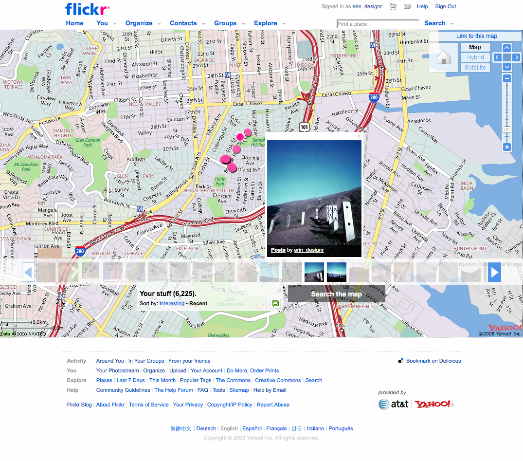 flickr photos on a map